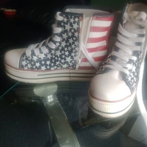 American flag boots by SODA